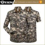 Esdy Tactical Hunting Camelflage respirant Manteaux à séchage rapide Chemises détachables