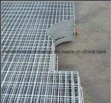 O llana reja galvanizada plataforma serrada de la barra de acero del suelo