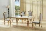 Pics стула обедая таблицы мрамора Anqitue зеркала золотистого