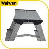 Un taburete de paso de progresión de aluminio plegable del hogar de la dimensión de una variable con las ruedas
