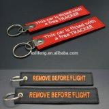 De Bagage van de douane etiketteert de Met de hand gemaakte Vlucht Keychains van het Borduurwerk