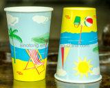 Tazas de papel revestidas del PE doble para la bebida fría, cola de los Cocos