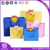 ショッピング包装のためのピンクの印刷のカスタム紙袋