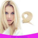 Волосы ленты стороны двойника надкожицы высокого качества полные с белокурым цветом