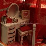 2017 regalo miniatura del mini DIY juguete de madera del Dollhouse de la Feliz Año Nuevo mejor para la felicidad del asimiento de la novia a disposición