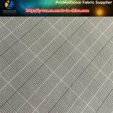 Poliéster / Nylon Blended Stretch Check Tejido para prendas de vestir (R0146)