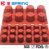 Chinesische Großhandelskammer Non-Stick Cannele Silikon-Kuchen-Form des Hersteller-DIY 18