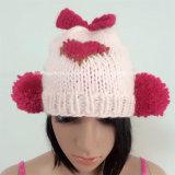 100% Island-Wollen, handgemachte Form-gewirkte Hüte mit Quast/den Ohren/Inneres