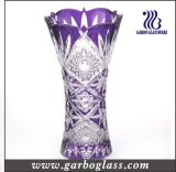 Vaso do vidro da decoração de Boémia