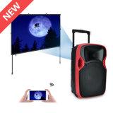 Altavoz portable sin hilos profesional redondo superventas con el proyector del LED