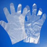 Guante plástico disponible del PE para el uso del alimento