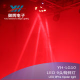 Vogel-Armkreuz-Kopf-Licht 10W 4 neuer der Liste-LED 9 Armkreuz-Träger-bördelt bewegliches Hauptstadiums-des Licht-neun in 1 Corey Lampe Licht
