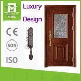 Puerta de acero de la seguridad del diseño de la puerta de la casa con buena calidad del fabricante de China