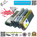 HP T1100、T1100PS、T610、T790、T1300、T2300、T1120、T770のT710plotterプリンターのためのチップが付いているバルク詰め替え式のインクカートリッジ