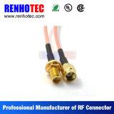 Connecteur femelle plaqué par or du connecteur SMA de fil de rf directement pour le câble équipé de Rg174 Rg58
