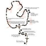 Rosario dei branelli di vetro, rosari cattolici (IO-cr344)