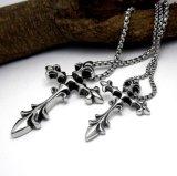 Homens & mulheres do aço inoxidável do pendente da colar da cruz da jóia da forma