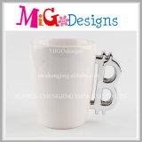 Tazze di ceramica decorative del latte con la placcatura elettrolitica