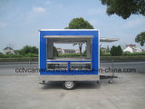Trois chariots mobiles extérieurs ouverts d'aliments de préparation rapide de guichet de côtés mini (SHJ-MFS250)