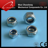 Noix Hex DIN985 de blocage en nylon d'individu d'acier inoxydable