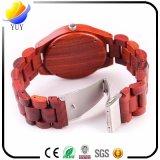 Montre-bracelet du quartz de Womer des rétro hommes en bois de cadeau promotionnel