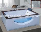 BALNEARIO de la bañera del masaje del rectángulo con el vidrio lateral para la persona 2 (AT-9804)
