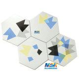 De geometrische Hexagon Tegel Bedxh001A van het Porselein