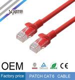 Cuerda de corrección del OEM CAT6 del cable UTP 24AWG de la red del gato 6 de Sipu