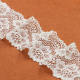 Spitze-Stickerei, Baumwollhäkelarbeit-Spitze-Gewebe, elastische Spitze-Zutat für Dame Dress
