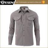 Los deportes al aire libre de Esdy calientan la camisa del paño grueso y suave de la camisa de los hombres tácticos de Softshell