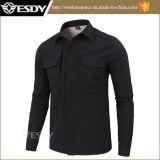 Os esportes ao ar livre de Esdy aquecem a camisa dos homens táticos de Softshell da camisa do velo