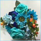 Girasoli falsi di seta dei fiori artificiali per la decorazione della casa di cerimonia nuziale