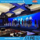 P3.91 Innenmiete gebogener LED Bildschirm