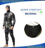 Wetsuit super de Spearfishing do mergulho autónomo do estiramento 5mm do neopreno do homem
