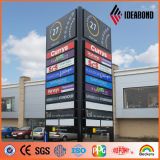 Decorativo Letrero Materiales IDEABOND color aluminio recubierto de PE Coil Coating