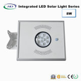 luz solar Integrated do jardim do diodo emissor de luz do sensor de 8W PIR