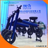 Миниый складной мотор батареи 500W Pansonic E-Bike Onebot, урбанская удобоподвижность, толковейшее Ebike, USB, Bluetooth, самокат, велосипед