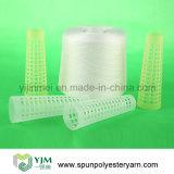 Hilados de polyester 100% en el cono de papel