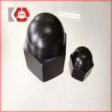 DIN1587 Coque bombée hexagonale Black Nut