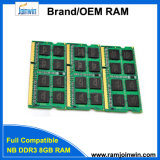 Ett откалывает Non компьтер-книжку 8GB RAM Ecc 1600MHz PC3-12800 DDR3