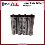 Bateria seca da bateria 1.5V AA Sum3 do carbono R6