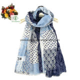 Satin-Schal der Form-Dame-Scarf Ithe Hollow Cashew Printied