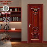 Porte en bois découpée classique de pièce de porte en bois intérieure (GSP2-002)