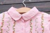 De Jonge geitjes die van de Kinderen van de Overhemden van de Meisjes van het kant & van Vouwen Katoenen Overhemd kleden