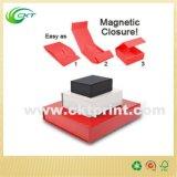Elegante rectángulo de regalo impreso alta insignia con el encierro magnético (CKT-CB-708)
