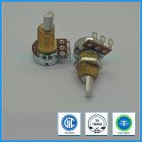 potentiomètre rotatoire de 16mm avec le coussinet en laiton pour le contrôle automobile de climatiseur
