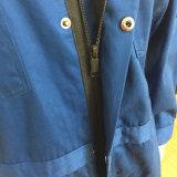 Голубые цветы для отражательного Workwear Coverall безопасности с волшебной лентой