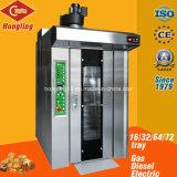 Hete Verkoop 16 Oven van het Baksel van het Gas van Dienbladen de Roterende voor Brood