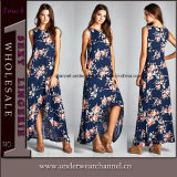 Moda New Style Floral Woman Casual Maxi Dress Beach Dresses (TONY0420)