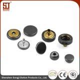 Botón individual redondo del broche de presión del metal del OEM Monocolor con la UE y nosotros